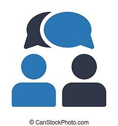 conversation glyph color icon