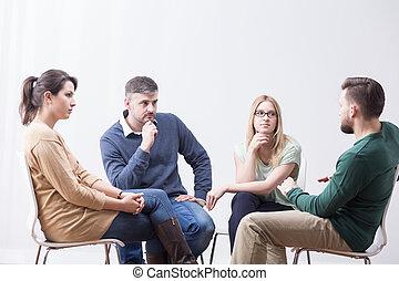 conversation, groupe