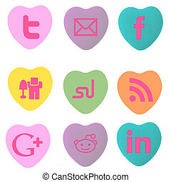 Conversation Hearts Social Stamps - conversation hearts with...