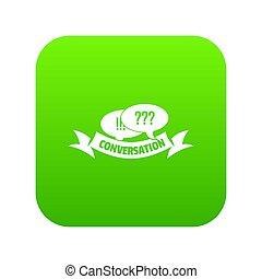 Conversation icon green
