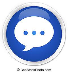 Conversation icon premium blue round button