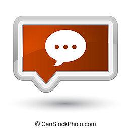Conversation icon prime brown banner button