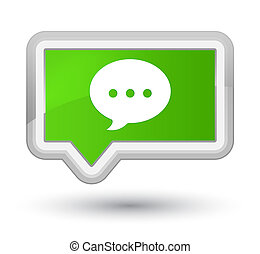 Conversation icon prime soft green banner button