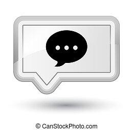 Conversation icon prime white banner button