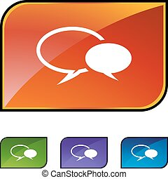 Conversation icon set