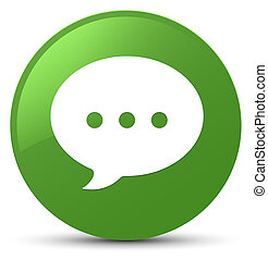 Conversation icon soft green round button