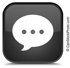 Conversation icon special black square button