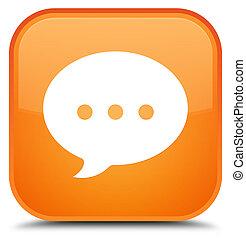 Conversation icon special orange square button