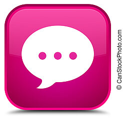 Conversation icon special pink square button