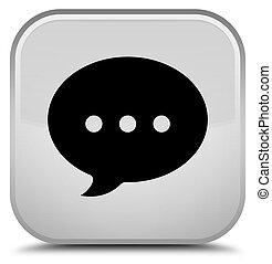 Conversation icon special white square button