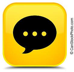 Conversation icon special yellow square button