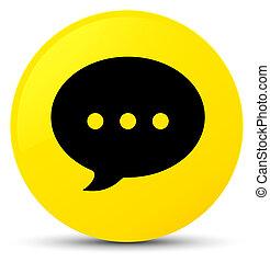 Conversation icon yellow round button