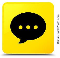 Conversation icon yellow square button
