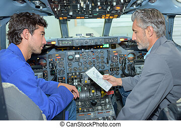 conversation in the cockpit