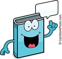 conversation, livre, dessin animé