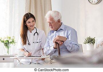 conversation, malade infirmière, communauté
