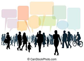 conversation, marche