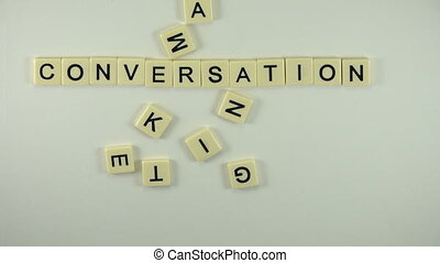 Conversation Marketing-Spelled Out - A sexy women hand model...