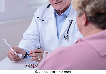 conversation, medic, patient