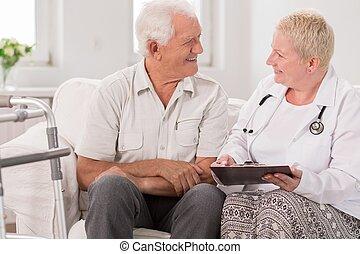 conversation, patient