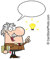 conversation, prof, sur, idée