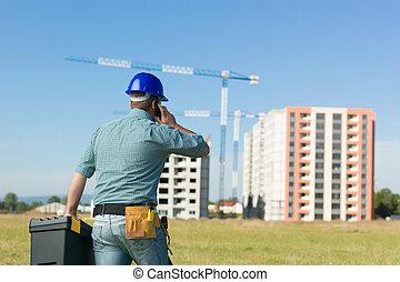 conversation, site construction, résidentiel