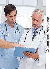 conversation, sur, deux, fichier, médecins