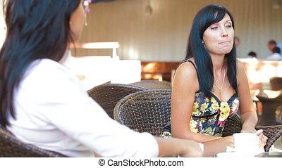 conversation, vif, femme