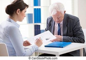 Conversation with senior candidate