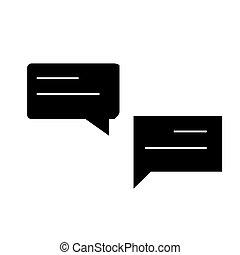 conversations, illustration, isolé, signe, vecteur, fond, icône