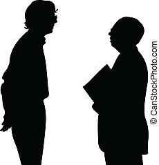 conversazione, silhouette