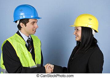 conversazione, tremante, architetti, mani