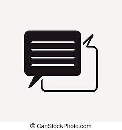 conversazione, ufficio, icona