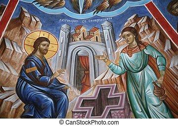conversión, de, un, samaritan, mujer