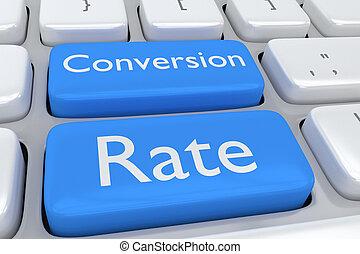 conversión, tasa, concepto