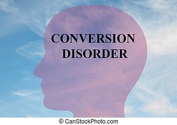 Conversion Disorder - mental concept - Render illustration...