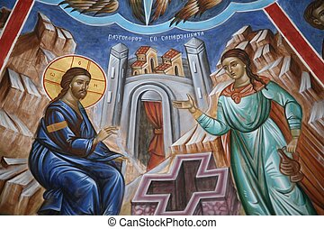 Conversion of a Samaritan woman - Miraculous conversion of a...