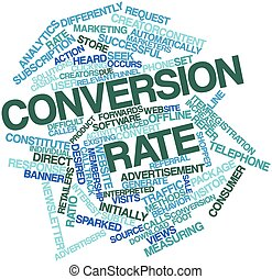 Conversion rate - Abstract word cloud for Conversion rate...