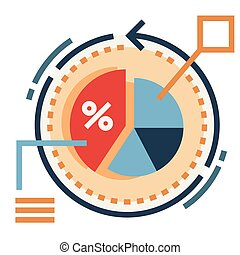 Conversion rate Flat illustration - Conversion rate vector...