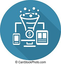 Conversion Rate Optimisation Icon. Business Concept....