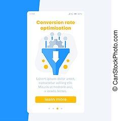 Conversion rate optimization, sales funnel banner