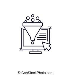 Conversion rate optimization, sales funnel icon