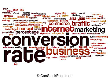 Conversion rate word cloud