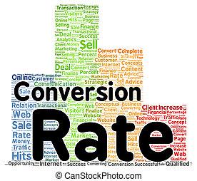 Conversion rate word cloud shape