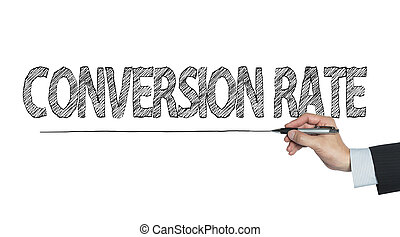 conversion rate written by hand