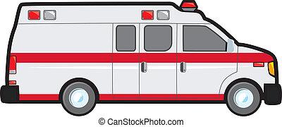 Conversion Van Ambulance - A common North American ambulance...