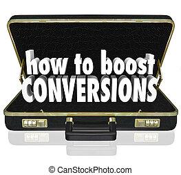 conversions, ブリーフケース, 売上高が増加する, いかに, レート, 取引完了, 倍力