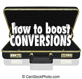 conversions, maletín, aumento de ventas, cómo, tasa, cierre...