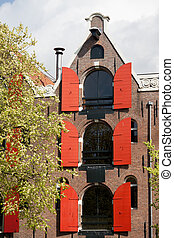 Converted Warehouse Apartment Building in Amsterdam