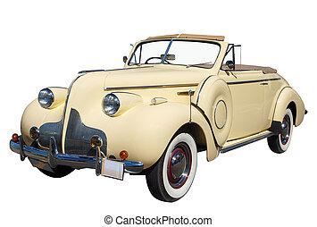 convertible, buick, ocho, 1939, derecho